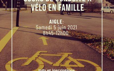 Cours vélo en famille le samedi 5 juin à Aigle