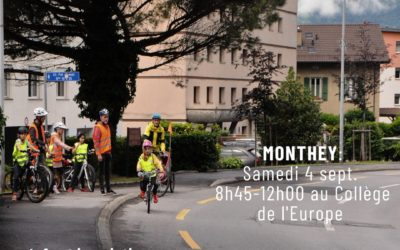 Cours vélo en famille le samedi 4 septembre à Monthey