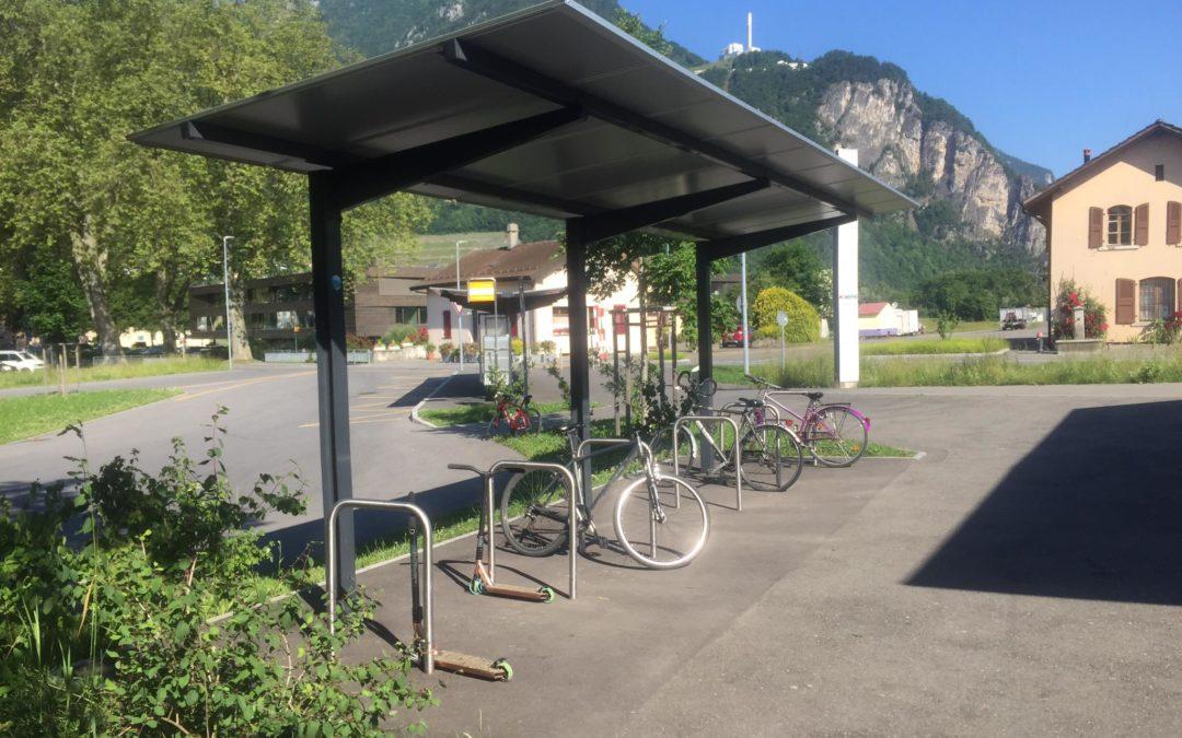 Situation parc à vélos gares du chablais